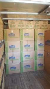 Piles of moving boxes ready to be moved by our moving company Kearny NJ