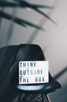Choose the right moving boxes and think outside the box.
