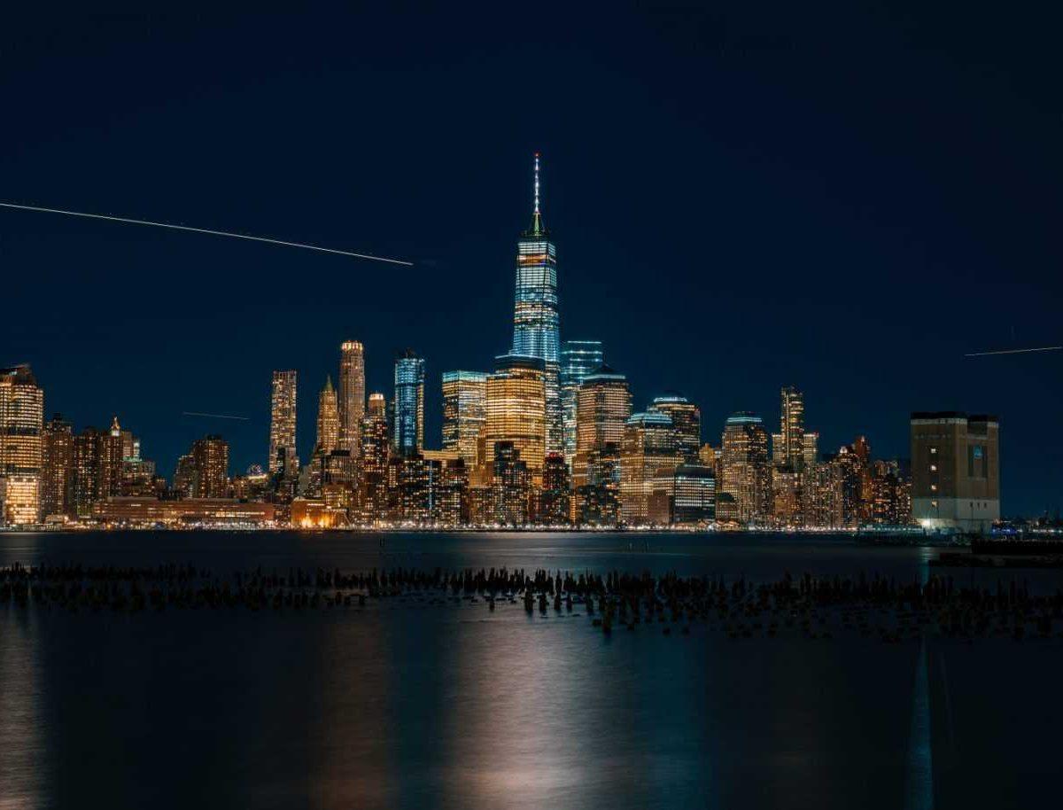Manhattan skyline as seen from the Jersey shore