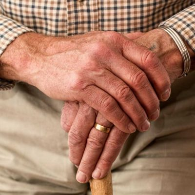 A man with a cane - looking for the best places to retire in New Jersey?