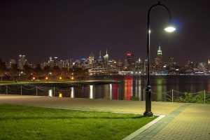 The famous view of Manhattan from Hoboken Waterfront