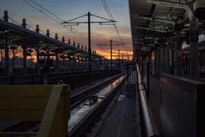 Train station in Hoboken NJ