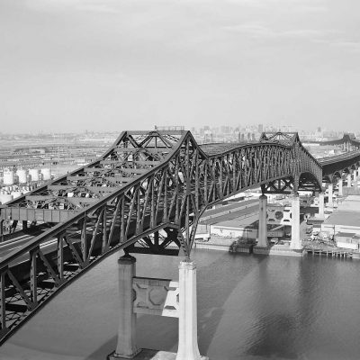 General Pulaski Skyway, black and white photo