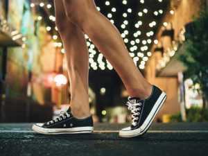 Image of legs of a man walking