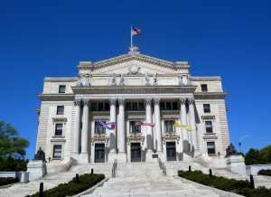 Newark courthouse on a sunny day