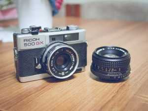 Take photos with a camera such as this one.