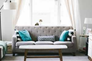 Living room - check your furniture for any damages before packing