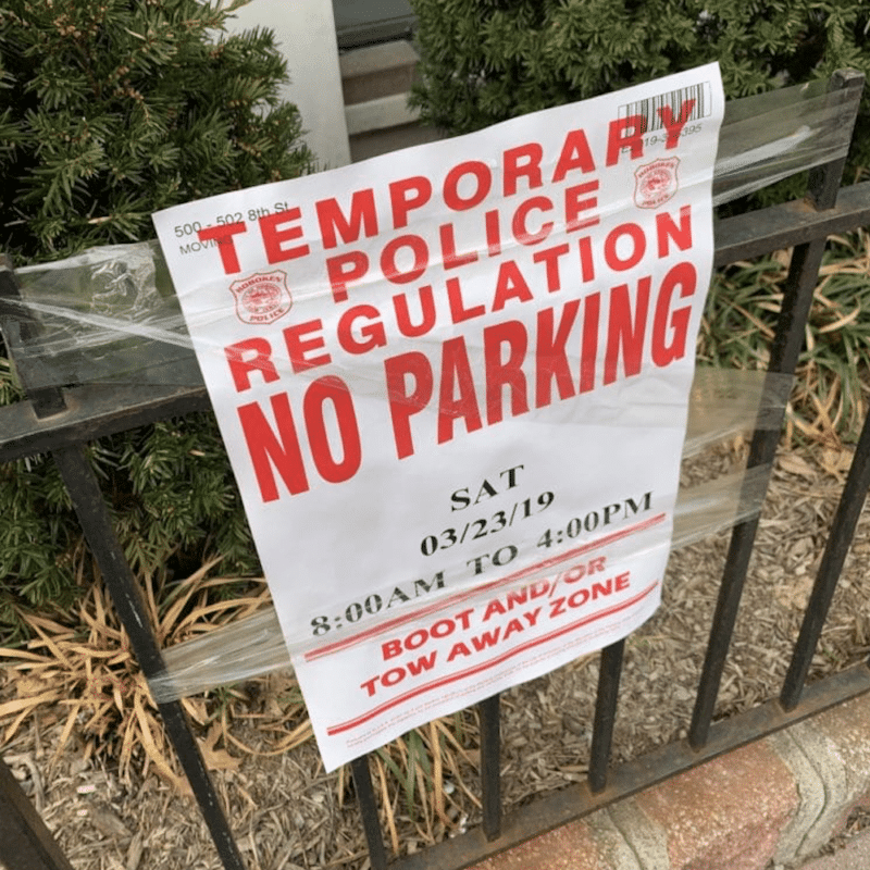 TEMPORARY NO PARKING AND MOVING TRUCK PARKING IN NEW JERSEY